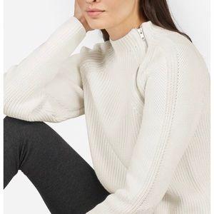 Everlane Fisherman Cotton Zip Pullover